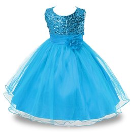 Wholesale Dresse For Girls - Girls Dress Wedding Party Princess Christmas Dresse for girl Party Costume Kids Cotton Party girls Clothing