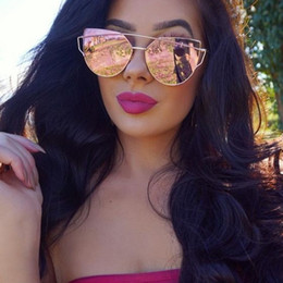 blaue verspiegelte designer-sonnenbrille Rabatt spiegelrot cat eye sonnenbrille frauen brillenmarke designer vintage retro cat gläser oculos rose gold schwarz blau sonnenbrille y19