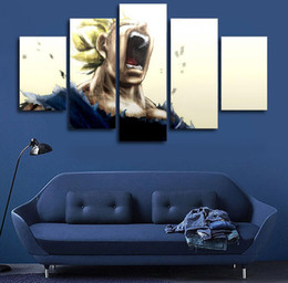 Wholesale Z Home - Canvas Printed Carton Hd Vegeta Dragon Ball Z Super Saiyan Painting Home Decorative Wall Picture Cuadros Decoracio Free Shipping
