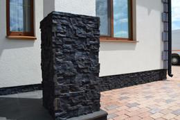Wholesale Garden Concrete - mold smell High quality 5 pieces lot Plastic Molds for Concrete Plaster Wall Stone Tiles Brick Maker Mold for Garden Decoration