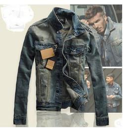Wholesale Jaquetas Top - Wholesale- New Design Fashion Retro Jeans Jackets For Men,Male Winter Autumn Plus Size Denim Coat Outwear Tops Cowboy Wear Jaquetas J86