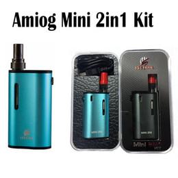 Wholesale Mini Battery E Cigarettes Kits - Amigo Mini 2N1 Kit 1000mAh Battery 1.0ml Atomizer Amigo Liberty Tank Oil ce3 Cartridge E-cigarette Kits