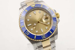 Wholesale Gold Mens Divers Watch - Luxury aaa Sapphire 40mm Men Watch Stainless Ceramic Watch Gold Index Dial 116613 Automatic Sport Mens Watch Men's Wrist Watches