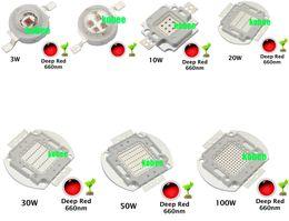 Wholesale Grow Lights 3w 5w - Wholesale- High Power LED Chip 660nm Deep Red LED Grow Light 660 nm 3W 5W 10W 20W 30W 50W 100W COB Emitter for Plant Growing Tank Aquarium