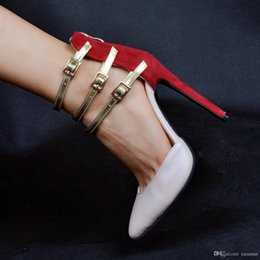 Wholesale Spring Heel Shoes - 2017 Fashion Sexy Spring Autumn High Heel Women Shoes Party Wedding Stiletto Shoes Plus Size Thin Heels Ladies Shoes Xd019