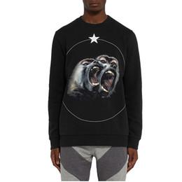 Mono sudaderas con capucha mujer online-Al por mayor-Tide Brand Clothing Men Women Hoodies 2016 versión superior Monkey Brothers Cuban-Fit impreso algodón moda hombres sudaderas