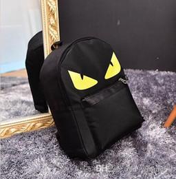Меховые рюкзаки онлайн-Оптовая рюкзак монстр глаза мех сумка рюкзак/Рюкзак сумка/школьный рюкзак/холст рюкзак/маленький монстр рюкзак сумка