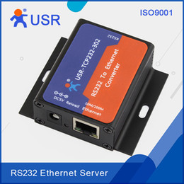 Wholesale Serial Ethernet Tcp Ip - Wholesale- Q033 USR-TCP232-302 Tiny Size Serial Transmission RS232 to Ethernet TCP IP  LAN Server Module Converters Support DHCP DNS