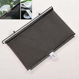 Wholesale Retractable Shades - Wholesale- Windshield Sunshade Shield Visor Block Black Curtains for Cars Auto Retractable Car Curtain Side Window Car Sun Shade Curtain