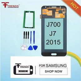 Wholesale Tft Screens Replacements - TFT LCD For Samsung Galaxy J7 2015 J700 J700F J700H J700M Display Touch Screen Digitizer Assembly Replacement Parts Can Adjust Brightness