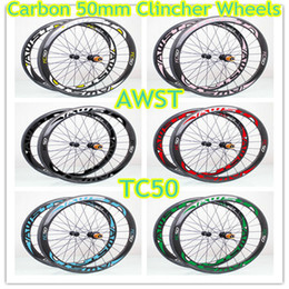 Wholesale Bike Wheels Road Full Carbon - Free shipping 38 50 60 88mm full carbon 700C 23mm width carbon wheels basalt surface road bicycle carbon wheels set black wheels