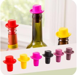 Wholesale Fresh Hats - Food-grade silicone homburg bottle stoppers keep the fresh Beer flavor bottles red cowboy hat wine stopper