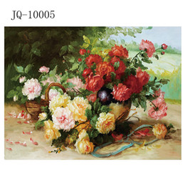 Wholesale Oil Painting Single Flowers - 30x40x3(cm)Modern wall art home decorative landscape flower oil painting Printedon canvas Water Flower Plants Scroll Painting One Panel