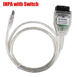 Wholesale Inpa K Dcan Obd2 Bmw - 10pcs lot High Quality Newest Switch Control K+DCAN USB Interface For BMW INPA  Ediabas OBD2 CAN SCAN Diagnostic Compatible