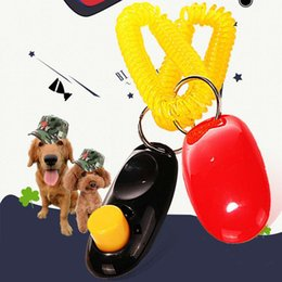 Wholesale Dog Clicks - Brand New Fashion Dog Train Clicker Dog Trainer Obedience Trainer Pet Click & Whistle Agility Keyring Dog Accessories
