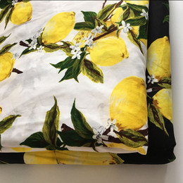 Wholesale Digital Printed Cotton Fabric - 1 meter digital printed cotton fabric for sewing 57 inches 150 g m 100% cotton material lemon pattern