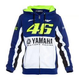 Wholesale Blue Moto Jacket - Free shipping 2017 Valentino Rossi VR46 M1 Factory Racing Team Moto GP Adult Hoodie Sports Sweatshirt Jackets Blue