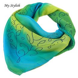 Wholesale Stylish Pashmina - Wholesale- My Stylish Hot Women Printed Large Square Scarf Chiffon Head Wrap Kerchief Neck Shawl Oct 24