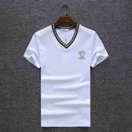 Wholesale Boys Tops Tee Shirts - Brand T Shirt Men Short Sleeve Shirts Cotton Turn-Down Collar T-Shirt Casual Tops Tees Homme Hiphop Tshirt Boy Camisetas V8863