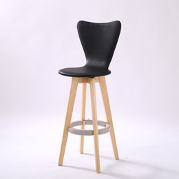 Wholesale Houses America - America public house stool rotating seat Cafe fashion chair black red orange white color free shipping