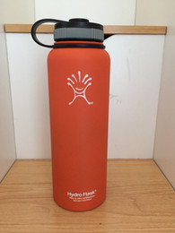 Wholesale Coffee Mug Sleeve - 40oz Hydro Flask Orange Insulated Stainless Steel Water Bottle Wide Mouth Tumbler Rambler Travel Mug Coffee Cooler