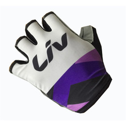 Wholesale Women Gel Cycling Gloves - 2017 liv womens Cycling Gloves Half Finger Anti Slip Gel Pad Breathable Motorcycle MTB Mountain Road Bike Gloves Sports Bicycle Gloves M2