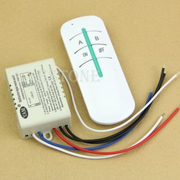 Wholesale Wireless Lamp Way - Wholesale-Wireless 220V ON OFF Lamp 2 Ways Remote Control Switch Receiver Transmitter NEW