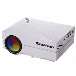 Projetos vga on-line-Atacado-Excelvan GM60 MINI portátil projetor HDMI / VGA / AV / SD entrada para jogos de vídeo / TV / Home Theater Projetado Beamer / Proyector
