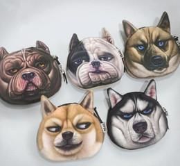 Wholesale Dog Head Handbag - Cute Dog Head Coin Purse 3D Character Zipper purses Handbag case convenient coin bag Mini change Bag key card