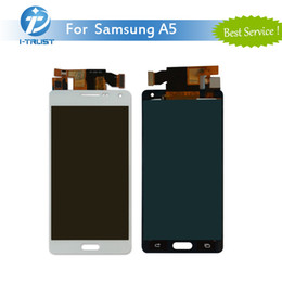 Wholesale Galaxy S3 Lcd Repair - LCD Display For Samsung Galaxy A5 White Silvery Grey Screen Panel Good Repair Repalcement & Free DHL Shipping