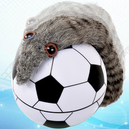 Wholesale Dhl Mouse - New Football castor ball underwater tumbling beaver mouse toy novelty football toy with retail box DHL SF Express free shipping