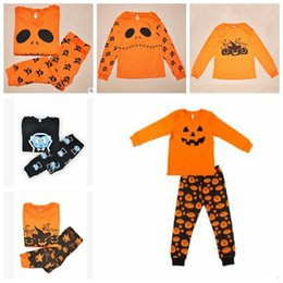 Wholesale Furniture Pieces - Halloween Costume Baby Girls Boys Clothing Sets Toddler Pajamas Suit Pumpkin Children Sleepwear Furniture Sets Clothing Sets TOP1982