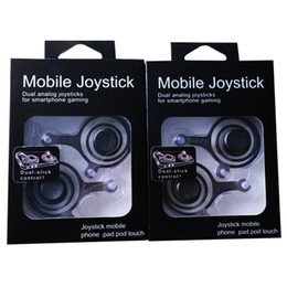 Wholesale One Touch Retail - Hot sale Fling mini Mobile Joystick Dual analog joysticks Smart Clip for samrtphone gaming iPad pod Touch iPhone 7 with Retail Box