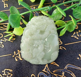 Wholesale Jade Lanyard - A new natural and Tian Qing jade kylin send Fu jewelry pendant pendant and lanyard free gift box