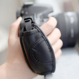 Wholesale Dslr Leather - High Quality PU Leather Camera Wrist Strap Soft Hand Grip for Canon Nikon Sony Olympus SLR DSLR