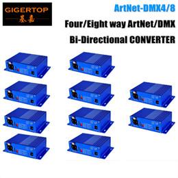 Wholesale Xlr Pin Female - Discount Price 10 Unit ArtNet-DMX4 8 Stage Light Controller DMX Internet Converter 4 Female 3 Pin XLR Connector Art-Net,UDP,TCP TP-D16
