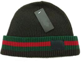 Wholesale Winter Fur Hats For Women - high quality brand Luxury design Winter Hats for Men women Knitted Beanie Wool Hat Man Knit Bonnet Beanies Gorros touca Thicken Warm Cap