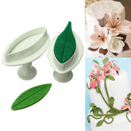 Wholesale Lily Cutter - 2Pcs set Sugar craft Cookie Plunger Cutters Mold Kitchen Tool Delicate Calla Lily Cake Fondant Decorating