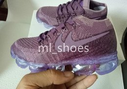 Wholesale Knitted Baby Shoes - new baby children boy girl vapormax runner Casual Shoes boys girls vapormaxes trainers knit sneaker Air cushion kids Athletic shoes