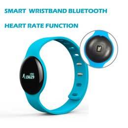 Wholesale Rates Lower - New Brand Lower Price smart wristand watch bluetooth wristband bracelet heart Rate Calories monitor 0.66 OLED Touch Screen for Android iOS