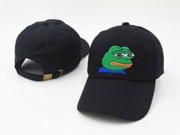 Cappello nero Pepe Life Suck Hat Dad Strapback Cap Sad Frog Embroidery Meme Berretto da baseball da