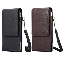 Wholesale Iphone 5s Belt Clip Leather - Hip Horizontal Lichee Leather Clip Holster Case For Iphone 7 6 6S Plus 5 5S 5SE Galaxy S8 S7 Edge S6 Note 5 4 Buckle 360 Degree Belt Pouch
