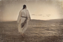 Wholesale Painting Jesus Christ - Framed JESUS CHRIST WALKING ON WATER BY MELANIE EWING,Pure Handpainted Art Oil Painting Canvas Free Shipping,Multi Sizes Available skeb