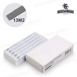 Wholesale Premade Tattoo Needles - Box Of 50PCS Round Shader Premade Sterilized Tattoo Needles Supply Weaved Magnum P-13M2*50