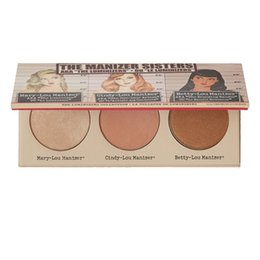 Wholesale mary cosmetics - Wholesale- 2016 New brand Makeup Cosmetics Manizer Sisters 3 Color Face Pressed Powder Mary-Lou Betty-Lou Cindy-Lou Shimmer Powder Palette