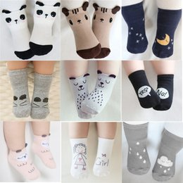Wholesale Cartoon Animal Socks Toddlers - Baby Cotton Socks Toddler Infant Cute Cartoon Short Socks Kids Panda Fox Animal Stockings Children Knee Length Floor Ankle Stockings 07