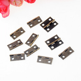 Wholesale Wholesale Hinges Hardware - Wholesale- Free Shipping 50pcs Bronze Tone Hardware 4 Holes DIY Box Butt Door Hinges (Not Including Screws) 18x15mm F1149