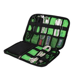 Wholesale Wholesale Travel Systems - 200pcs lot Organizer System Kit Case Storage Bag Digital Gadget Devices USB Cable Earphone Pen Travel Insert Portable