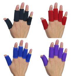Wholesale Braces Treatment - Wholesale- Kuangmi Sports Finger Splint Support Brace Elastic Finger Sleeve Protector Basketball Finger Treatment Splint Guard Home Remedy