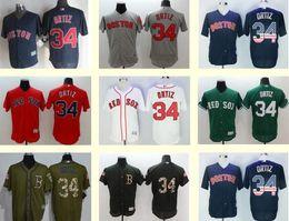 Wholesale Drop Ship Sports Jerseys - Men's Red Sox 34 David Ortiz Black White Blue Green Red Grey Sports Jerseys,Free Shipping Baseball Jerseys Top Quality Drop Shipping Cheap